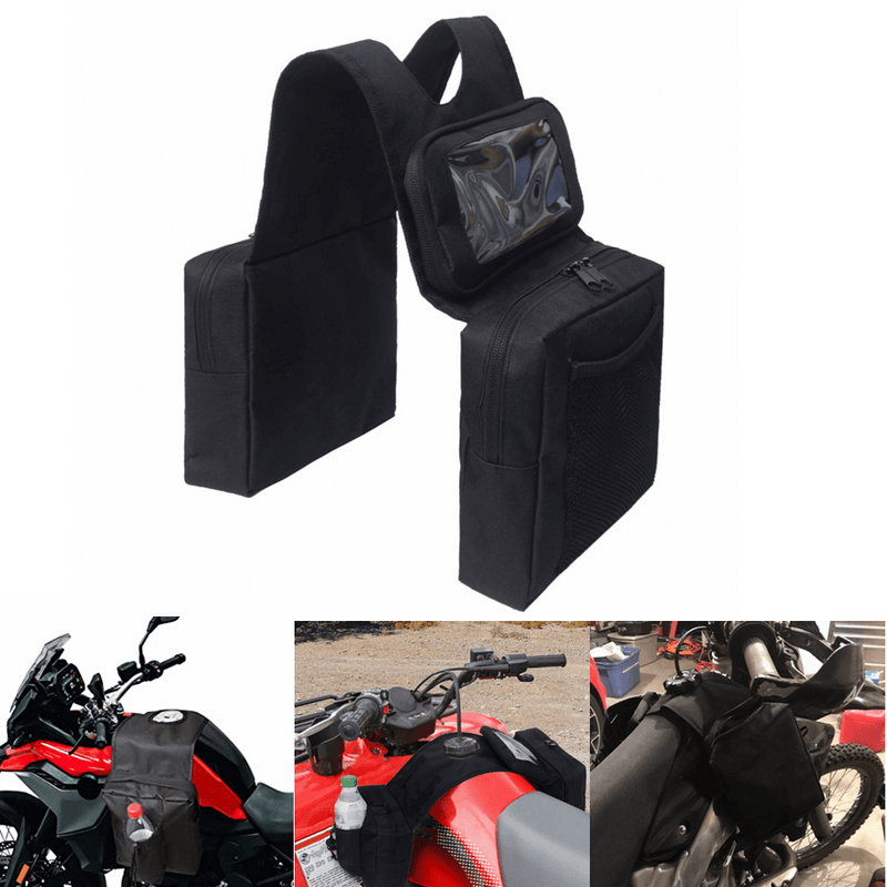Mototorcycle Gas Tank Saddlebag With Water Bottle Atv Snowmobile Bag \ Luggage Backpack Storage Box Chest Carrier Panniers Handbag Motorbike Seat Rack