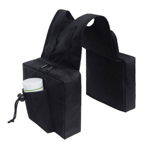 Universal Motorcycle ATV Tank Top Storage Saddle Bag 600D Waterproof Oxford Cloth Luggage Saddlebag Mobile Cup Holder Tool Bags Black - pazoma