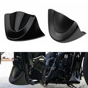 Harley Dyna Fat Bob Low Rider Street Bob Super Wide Glide 2006-2017 Lower Front Bottom Spoiler Mudguard Air Dam Chin Fairing - pazoma