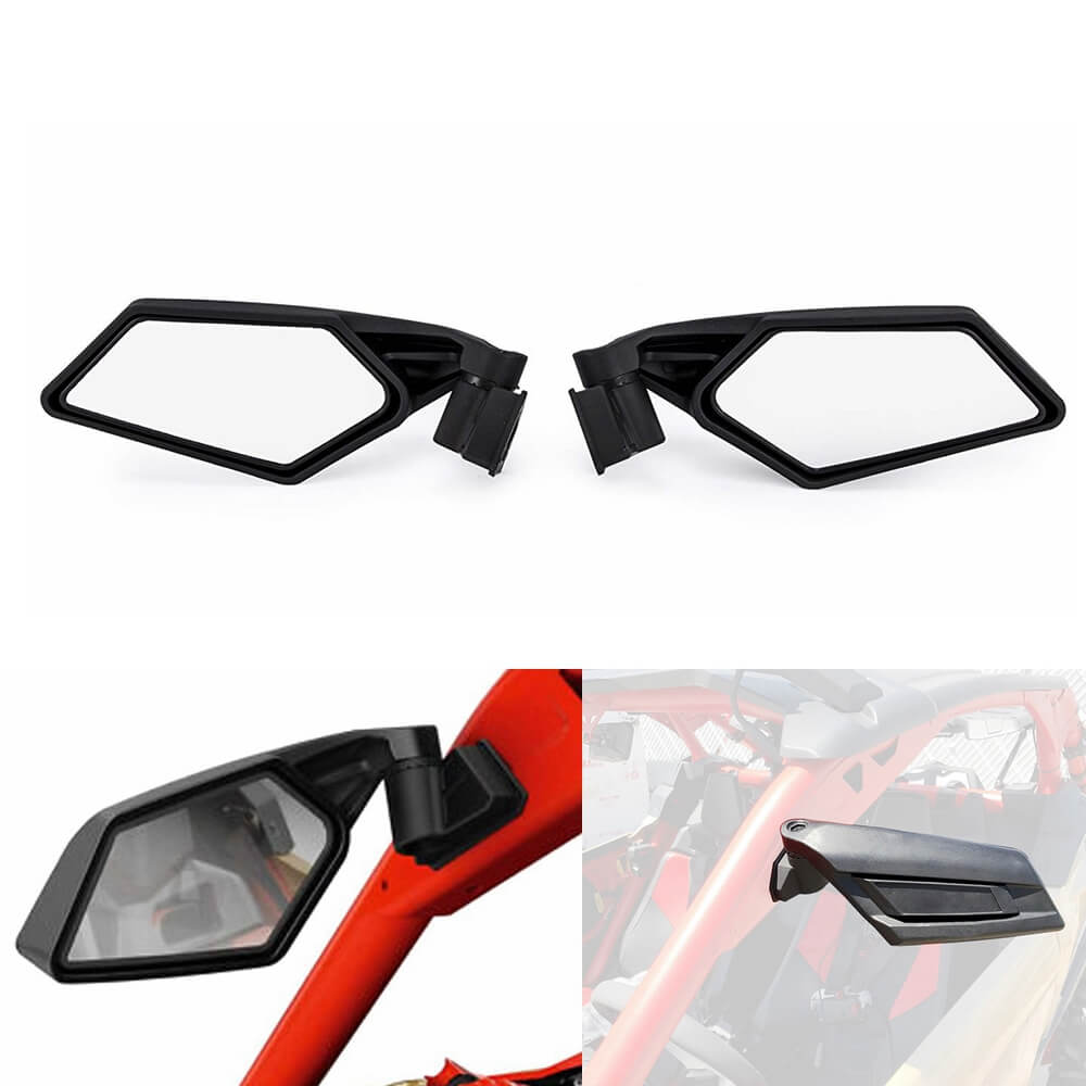 UTV Left & Right Mirror Rearview Mirror Racing Side Mirrors for Can-Am Maverick X3 R Max 2017-2019 715002898 - pazoma