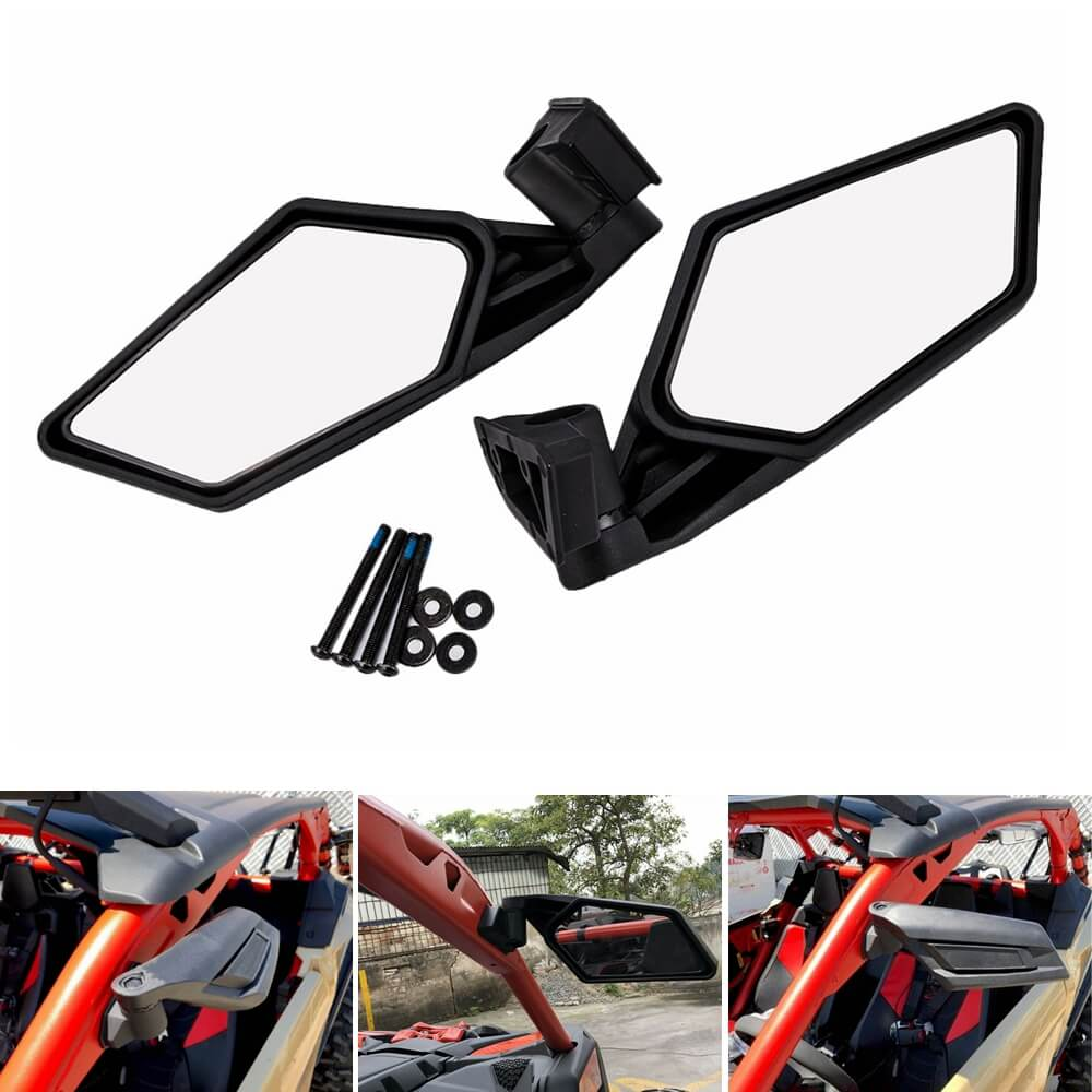 Can-Am Maverick X3 R Max UTV Side Mirror Rearview Mirror Shock Proof Racing Side Mirrors Left & Right 2017-2019 715002898 - pazoma