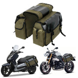 Canvas Motorcycle Saddle Bags Waterproof Saddlebags Luggage Bags Travel Knight Rider Storage Box Vintage Bag For Triumph Honda - pazoma