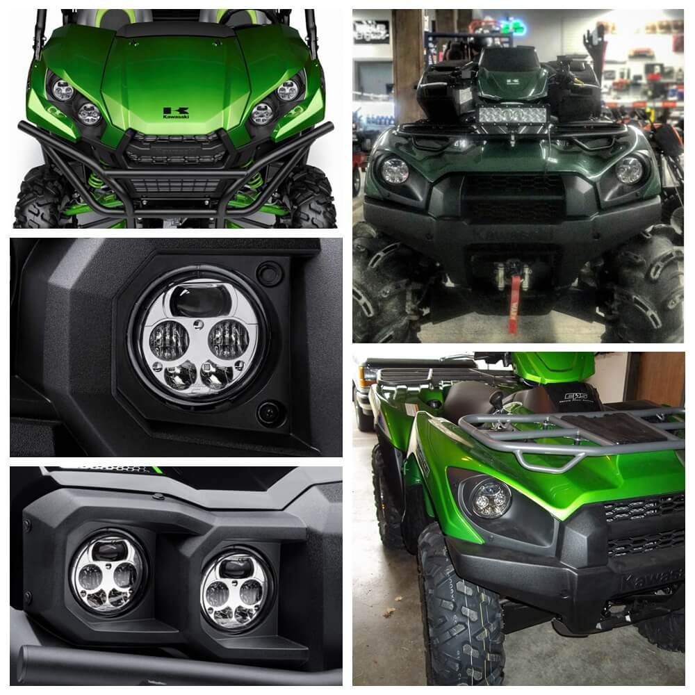 Kawasaki Brute Force 750 4x4i EPS Camo KVF750 Teryx KRF800 Teryx4 FI KRT750 KRF750 EPS LE LED Headlight Assembly Left Right Headlamp TX750-075 - pazoma