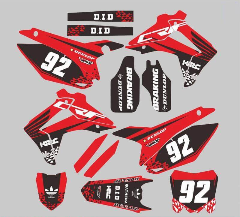 Honda CRF250 2014-2017 CRF450 2013-2016 Sticker Decal Customized Full Graphics Backgrounds PVC high translucent film - pazoma
