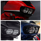 Harley Road Glide Headlamp Trim Headlight ABS Fairing Bezel Scowl Cover Limited FLTRK FLTRX Special FLTRXS CVO FLTRXSE 2015-2020 - pazoma