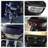 Motorcycle Dual Headlamp Headlight Trim Cover Bezel for Harley Road Glide 2015-2020 - pazoma