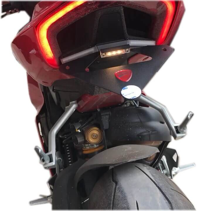 Ducati Panigale V4 S R LED Tail Tidy Fender Eliminator Kit Turn Signals License Plate Light Bracket 2018-2019 - pazoma