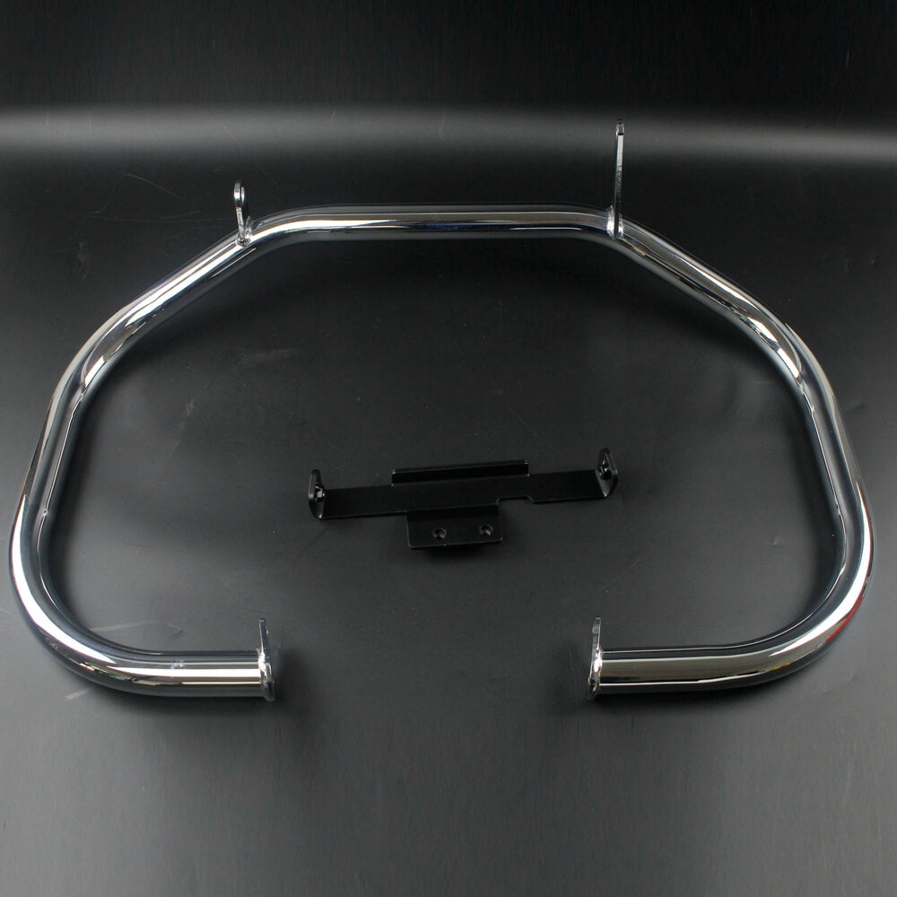 "Honda  VTX1800R VTX1800 C F T S R/Retro N/Neo '02-'08 EXTRA THICK 38mm 1-1/2"" Chrome Fat Bar Extreme Engine Guard Highway Crash Bar Bumper Protection - pazoma"