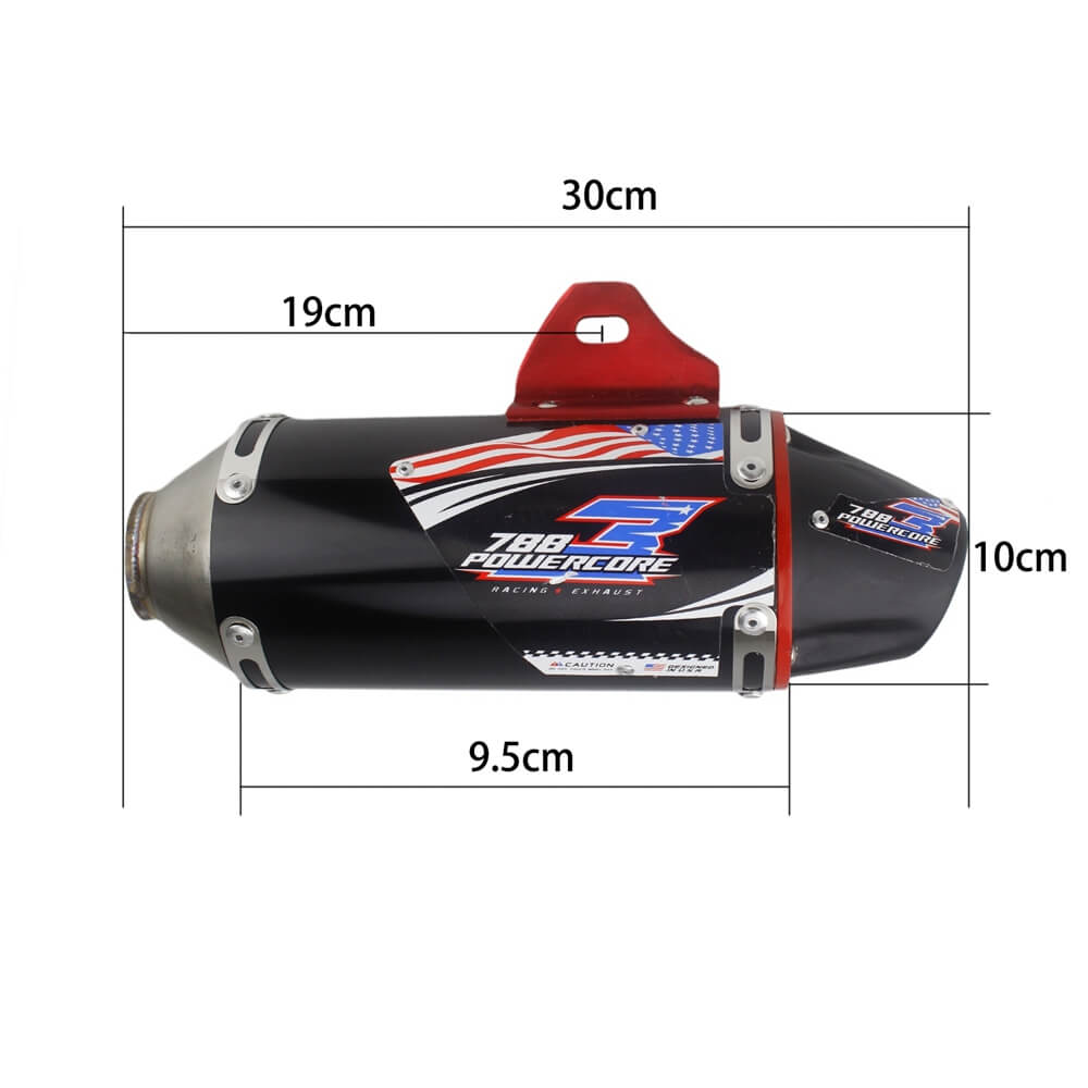 Full Slip-On Exhaust Muffler Complete Dual Exhaust System For Honda CRF150F CRF230F 2003-2016 - pazoma