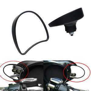 Harley Touring Electra Glide Street Glide Ultra Limited Tri Glide FLHX FLHT FLHTKSE 2014-2020 Black Rearview Fairing Mount Mirrors 56000076 - pazoma