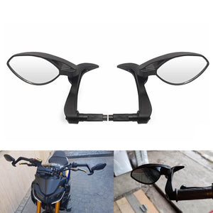 "Motorcycle Universal 3 in 1 Folding Bar End Mirrors with Lever Guard Fit 7/8"" 22mm Handlebar Side Rear View Mirror - pazoma"