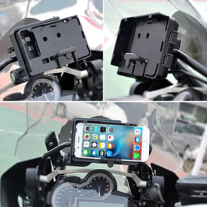 Mobile Phone USB Navigation Bracket Motorcycle USB Charging Mount For R1200GS F800GS ADV F700GS R1250GS CRF 1000L F850GS F750GS - pazoma