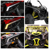 UTV Pair Front Side Signature Light for Can-Am Maverick X3/X3 Max R/X3 R DRL w/ Sequential Flowing Amber Turn Signal - pazoma