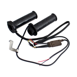 "AUTO Black 22.2mm 7/8"" Universal Adjustable Motorcycle Off-Road handlebar Electric Heating Hot Heated Grips Hot/Warm Hands for a single throttle cable - pazoma"