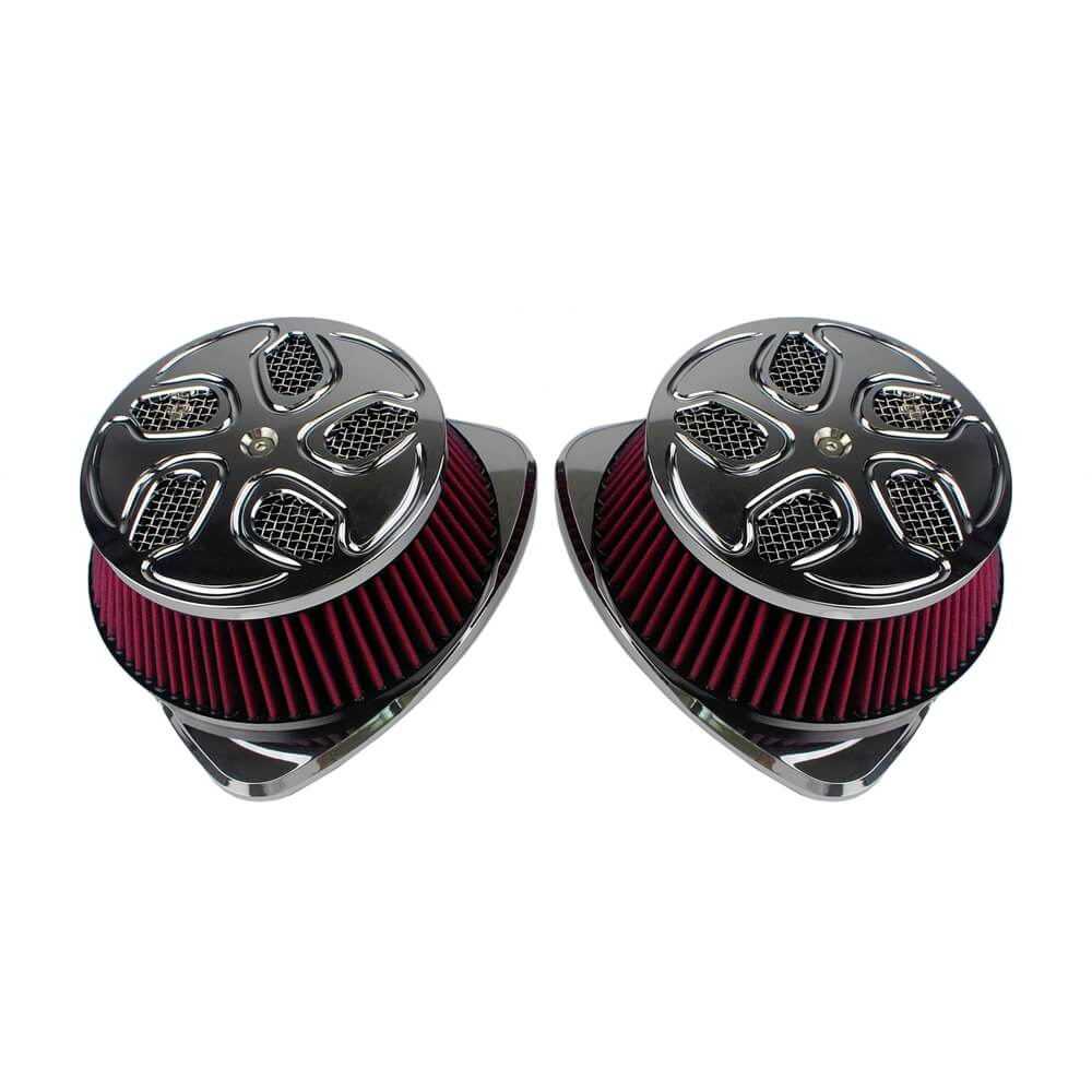 XXX Dual Intake Filter Big Sucker Air Cleaner Kit Suzuki Boulevard M109R BOSS VZR1800 VLR1800 M109 R2 RZ C1800 R RT Intruder M1800R 2006-2019 - pazoma