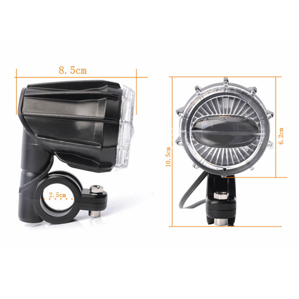 Motorcycle Universal Pair Projectors Spotlights LED Auxiliary Fog Light Assembly Driving Lamp 40W For BMW R1200GS ADV F800GS F700GS F650GS K1600 - pazoma