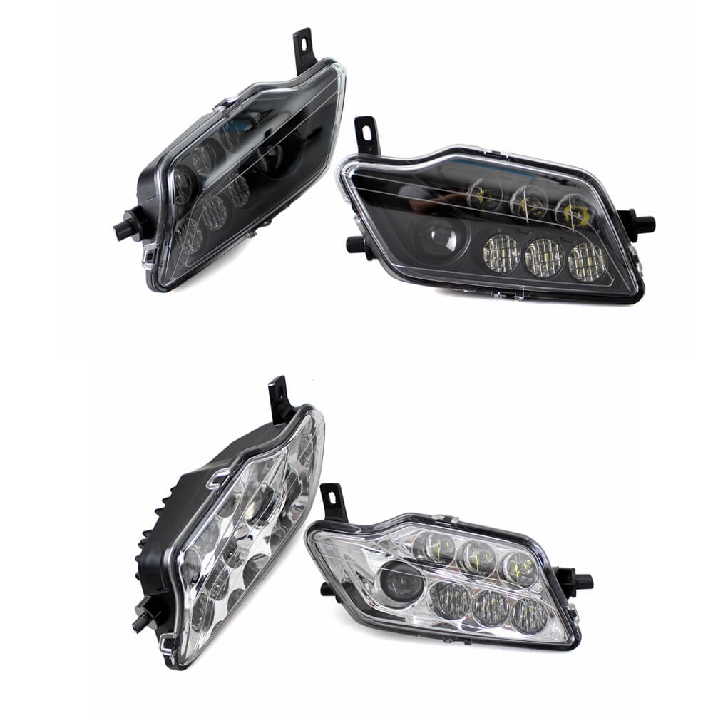 HONDA PIONEER BLACK LED HEADLIGHTS KIT PIONEER 500 //700 1000 MOD!! PAIR
