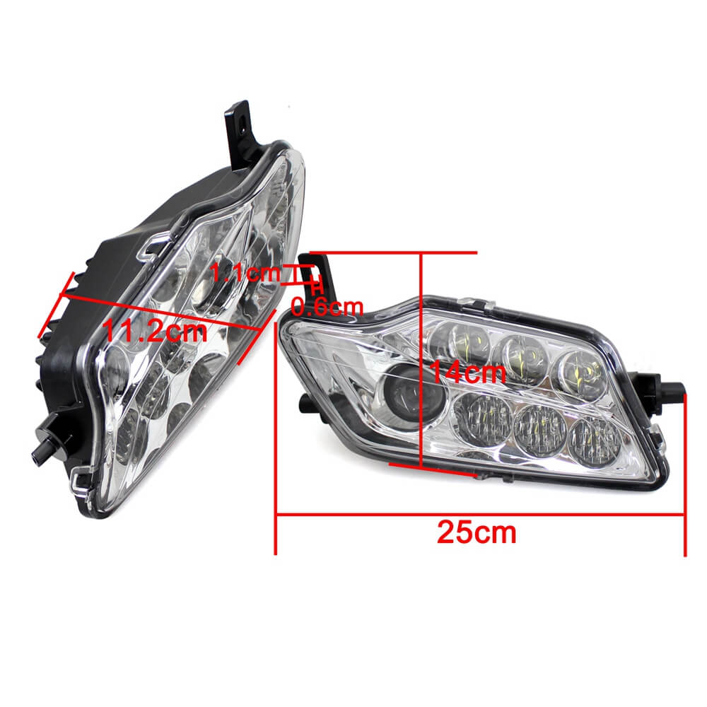 2014-2020 Honda Rancher 420 & Foreman 500 Rubicon LED Headlights Conversion Kit High Low Beam Replacement Headlamp - pazoma