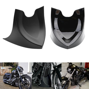 Harley Sportster Dyna Fatboy Softail V-ROD Touring Glide 1996-2017 Front Chin Spoiler Lower Chin Air Dam Fairing Mudguard Cover - pazoma