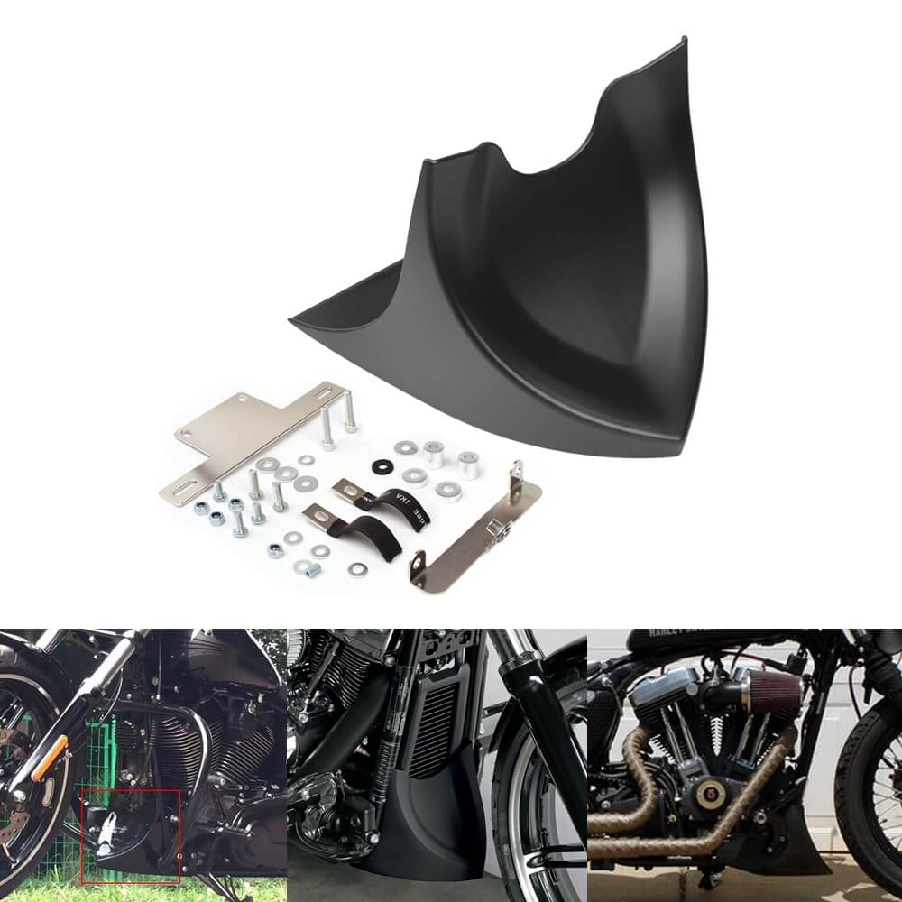 Chin Lower Front Spoiler Air Dam Fairing Mudguard Cover for Harley Touring Glide 1996-2017 Dyna Fatboy Softail 2004-2017 - pazoma