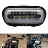 Motorcycle LED Headlight With White DRL High/Low Beam Projector Headlamp  for Harley Softail Fat Bob 114 FXFB FXFBS 2018-UP - pazoma
