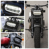 Harley Softail Fat Bob 114 FXFB FXFBS 2018-2020 LED Headlight Projector Headlamp Head Lamp Kit With Daylight Running Light DRL - pazoma