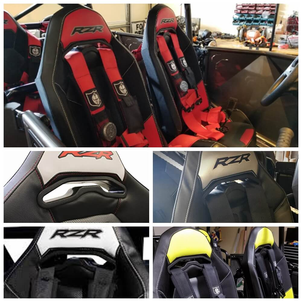 Polaris RZR XP1000 900S 900XC 900 Turbo Trail XP1K Sportsman Black Harness Seat Pass Through Bezel Insert 2/4 Seater 2014-2020 - pazoma