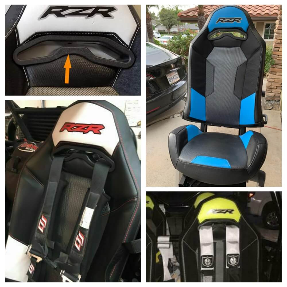 2014-2020 Polaris RZR 900 XP 1000 RANRZR1000XE Seat Belt Harness Pass Through Bezel Insert - pazoma