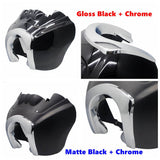 Clear Quarter Black Fairing Kit For Harley Dyna Super Glide T-Sport FXDXT FXR w/ Chrome Trim Bezel Headlight Relocation Block - pazoma