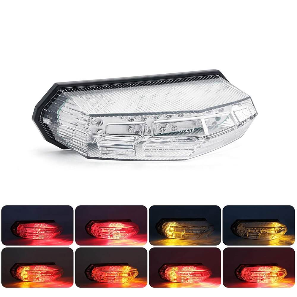 Universal Integrated Motorcycle 25 LED Taillight With Turn Signal Function Brake Stop Light For Dirt Bike Buggy Chopper Cruiser ATV - pazoma