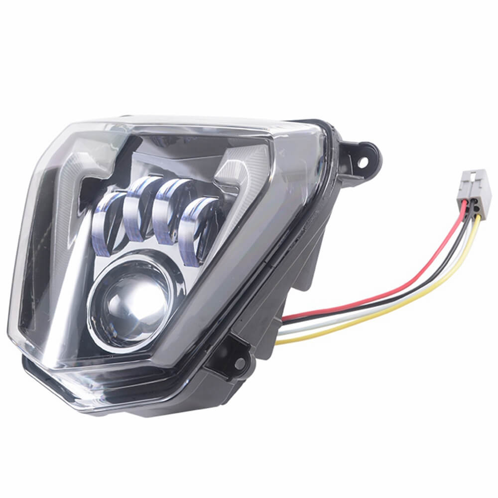 LED Headlight High/Low Beam with Angel Eyes DRL Assembly Kit and Replacement Headlamp For KTM duke 690 690R 2012-2019 - pazoma