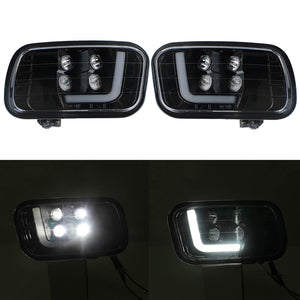 LED Upgrade Fog Light Assemblies for 09-12 Dodge Ram 1500/2500/ 3500 Pair Left and Right Side 2psc with LED Bulbs DRL Daytime Running Lights - pazoma