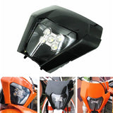 LED Headlight Kits With Shell Enduro Trail For KTM EXC-F EXC XC XCF XC-W Six Days EXC-F 250 300 350 450 500 530 Husqvarna FC FE TC TE 17-20 - pazoma