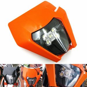 KTM LED Headlight Kits With Shell Enduro Trail EXC-F EXC XC XCF XC-W Six Days EXC-F 250 300 350 450 500 530 2017-2020 Husqvarna FC FE TC TE - pazoma