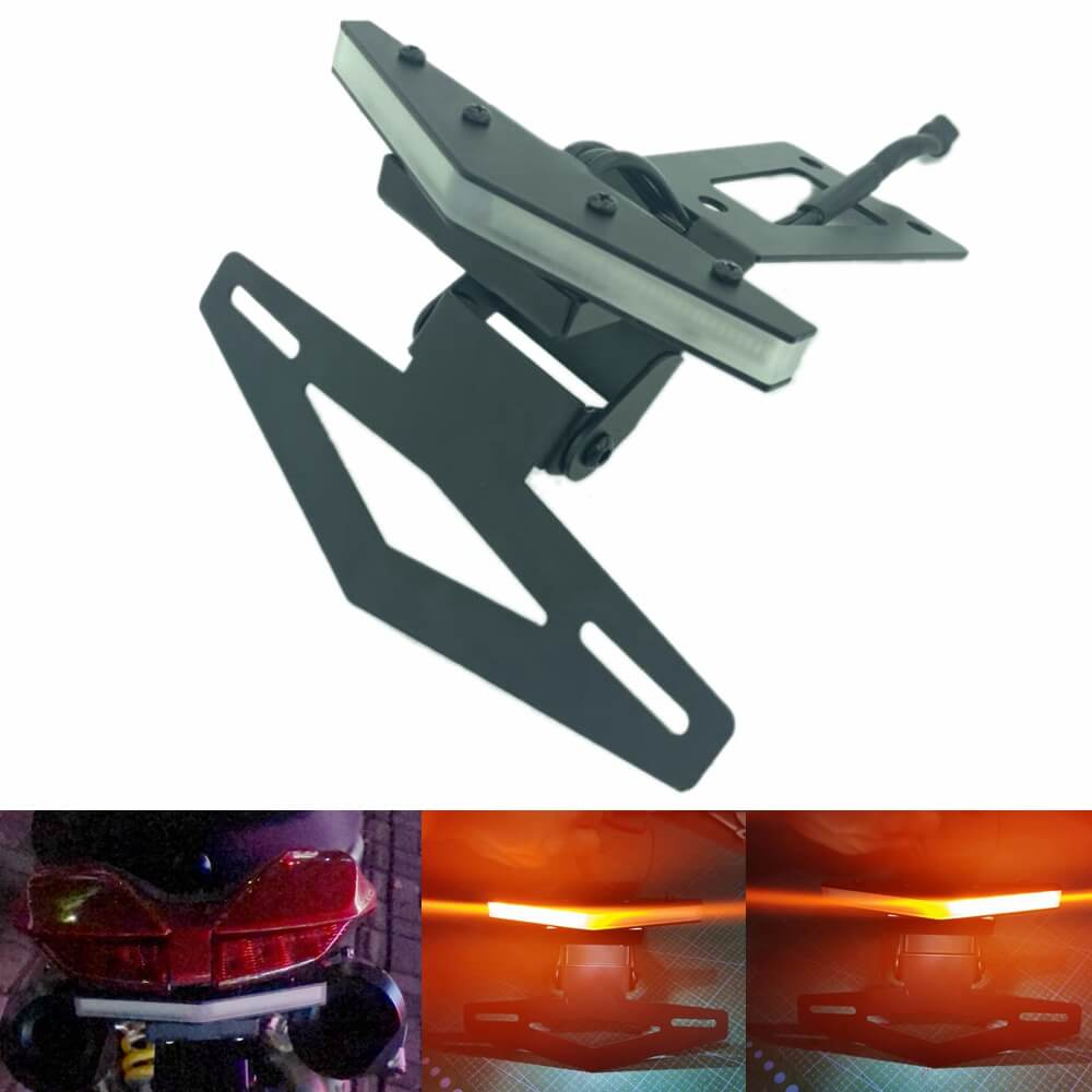 LED Tail Tidy Fender Eliminator Kit Rear Integrated Turn Signals License Plate Light Bracket For Ducati Hypermotard 950 / SP 2019-Present - pazoma
