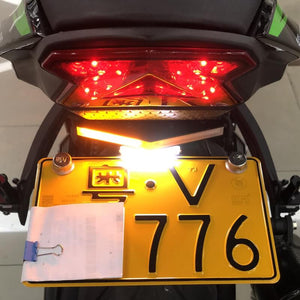 KAWASAKI NINJA 636 ZX-6R 09-18 ZX-10R 08-10 LED Tail Tidy Stealth Fender Eliminator Kit Integrated Turn Signals License Plate Light Bracket Holder - pazoma