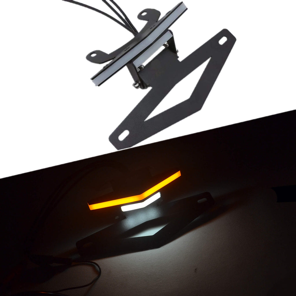 LED Tail Tidy Fender Eliminator Kit Integrated Turn Signals License Plate Holder Light Bracket For KTM 1290 Super Duke R 2014-2019 - pazoma