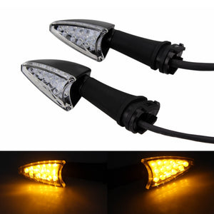 Amber LED Turn Signal Light Indicators Blinker Flashers For Yamaha YZF R1 R6 FZ1 FZ8 FZ6 N S R FZ1 Fazer XJ6 Diversion/F XJ6N TDM 900 FZ-25 FZ-03 - pazoma