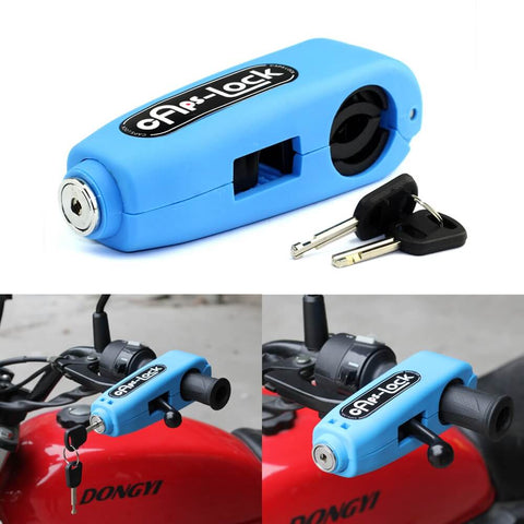 Motorcycle Bike Scooter Moped ATV Brake Lock Handlebar Throttle Grip Lock Anti-Theft Brake Level Lock Security - pazoma