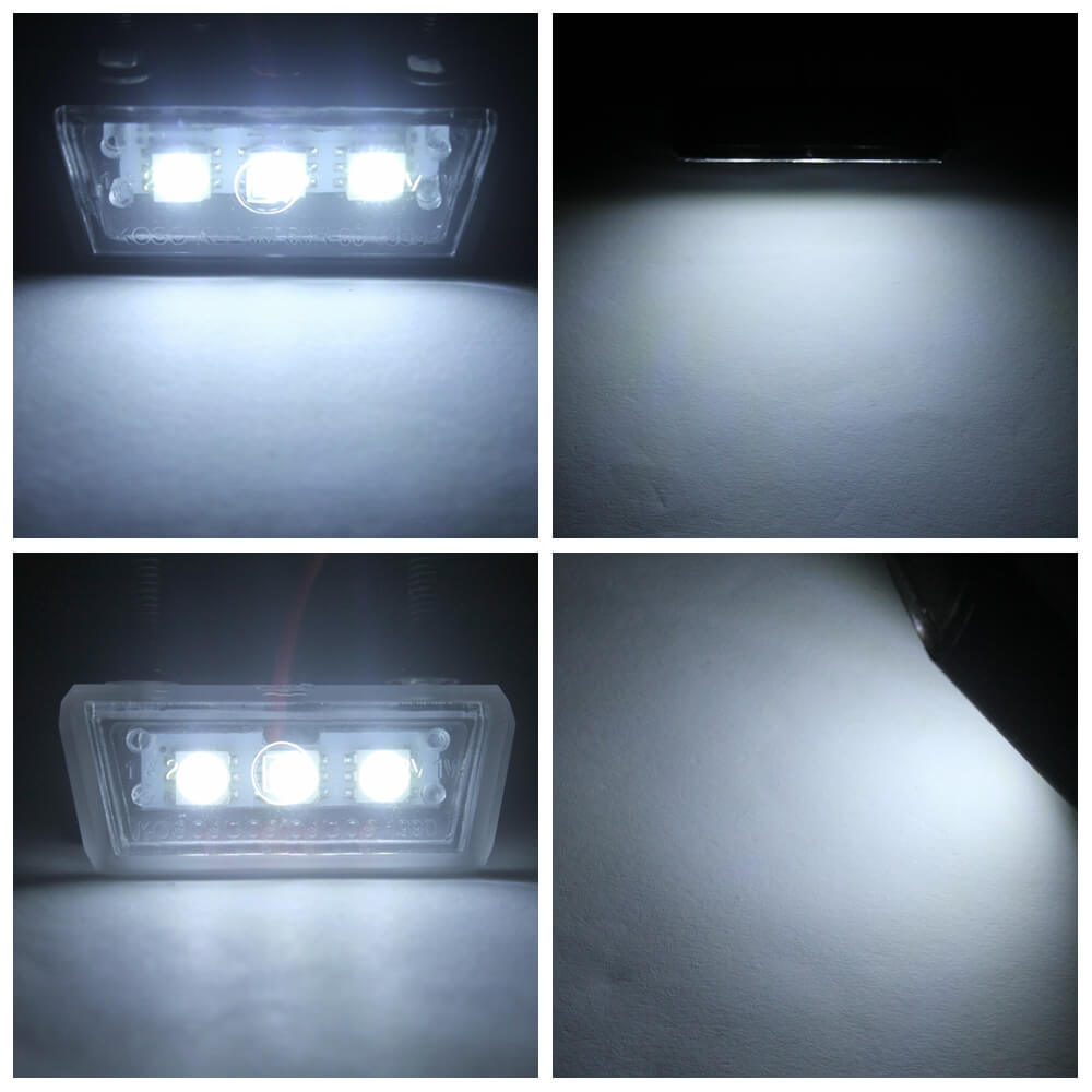 12V Universal Motorcycle License Plate White LED light Waterproof Motorcycle License Light Lamp Trailer Step Lamp - pazoma