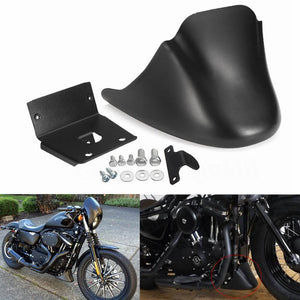 Motorcycle Black Lower Front Bottom Spoiler Mudguard Air Dam Chin Fairing Cover for Harley XL Sportster 883 1200 2004-2020 - pazoma