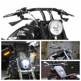 Motorcycle Custom Axe Style Mirrors Aluminum LED Turn Signal Running Light For Harley V-Rod Dyna Sportster Softail - pazoma