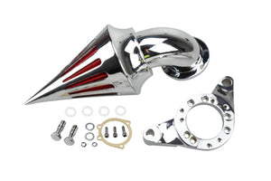 Chrome Spike Air Cleaner Intake Filter For Harley Davidson CV Carburetor Delphi V-Twin - pazoma