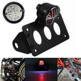 "Motorcycle Side Mount LED STOP Brake Tail Light 3/4"" Axle Hole License Plate Bracket Holder for Harley Bobber Chopper Honda Yamaha Suzuki Kawasaki - pazoma"