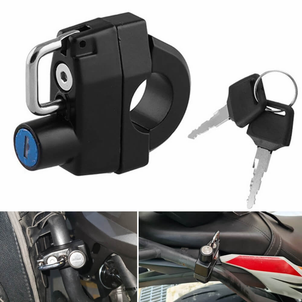 Motorcycle 25mm Handlebars Helmet Lock For HARLEY-DAVIDSON XL 883 1200 - pazoma