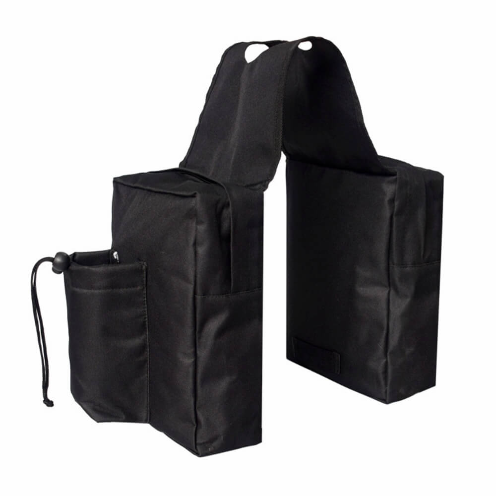 Motorcycle ATV Universal Fuel Tank Bag Luggage Saddlebag Cargo Storage Saddle Bag Black - pazoma