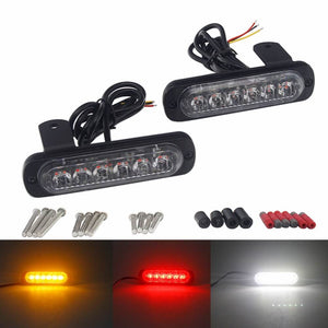 Motorcycle Universal Fender Mounting DRL Daytime Running Lights Visibility Pods Lighting Kit LED Taillight Burst Flash Brake Light - pazoma