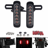 Motorcycle B6 Dual License Plate Auxiliary LED Taillight Burst Flash Brake light Daytime Running lights DRL Red or Yellow (Amber) or White - pazoma