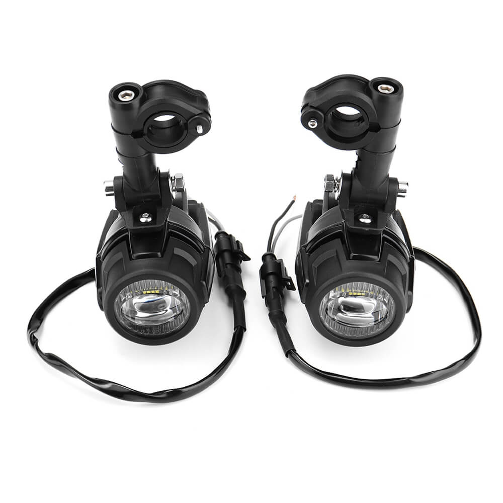 Universal Pair Projectors Spotlights LED Auxiliary Anti Fog Light For Honda Africa Twin Yamaha MT-07 MT-09 Kawasaki Versys SUZUKI DL V Strom 650 1000 - pazoma