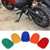 2 Pack Universal Motorcycle Plastic Side Stand Kickstand Non-slip Plate Side Extension Support Foot Pad Base Biker's Kick Stand Pad - pazoma